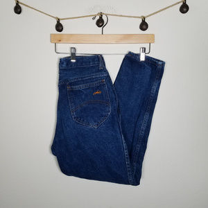 Vintage 90's Chic Dark Wash Mom Jeans 11P 27x27.5